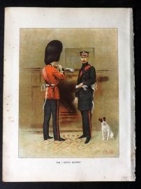 Richards Her Majesty's Army 1890 Military Print. The Sctos Guards